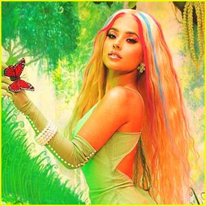 Becky G Wears Rainbow Hair For New 'Galore' Mag Feature