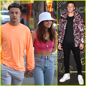 Cameron Dallas & Girlfriend Madisyn Menchaca Hold Hands For Lunch Date In WeHo