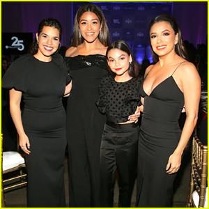 Gina Rodriguez, Ariana Greenblatt & Jessica Marie Garcia Celebrate Eva Longoria Foundation