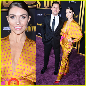 Jenna Johnson & Val Chmerkovskiy Have Cute Date Night Out at 'Knives Out' Premiere