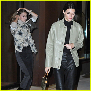 Gigi Hadid & Kendall Jenner Reunite For Dinner Out in NYC