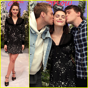 Mitchell Hope Kisses Kiernan Shipka at 'Let It Snow' Photocall!