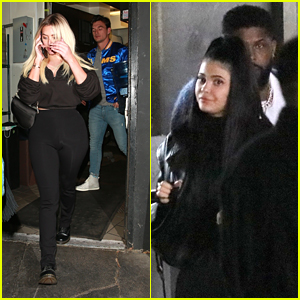 Stassie Karanikolaou & Tyler Cameron Meet Up With Kylie Jenner After Catching A Football Game