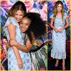 Millie Bobbie Brown & Priah Ferguson Hug It Out at 'Stranger Things' Season 3 Screening in NYC