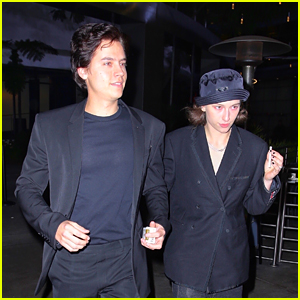 Cole Sprouse Hangs Out with King Princess at 'Uncut Gems' Premiere!