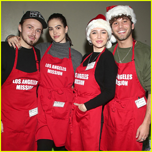 Amelia Gray & Delilah Belle Join Their Boyfriends For Christmas With the Los Angeles Mission