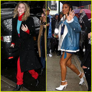 Lili Reinhart & Keke Palmer Keep it Chic... Even in Snow Storms!
