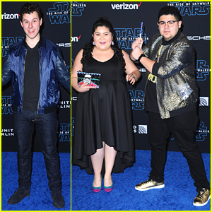 Rico Rodriguez Brings Mini Lightsaber to 'Star Wars: The Rise of Skywalker' Premiere