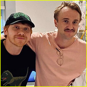 Rupert Grint & Tom Felton Visit Fans at Children's Hospital for Christmas!