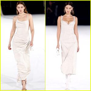 Gigi Hadid Walks in Paris Fashion Week Show with Bella!
