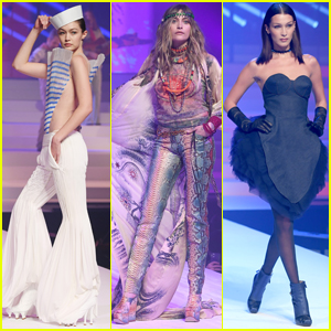 Gigi Hadid, Paris Jackson, & Bella Hadid Walk in Jean Paul Gaultier's Fashion Show!