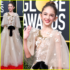Julia Butters Arrives For Her First Golden Globes!