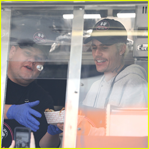 Justin Bieber Serves Up 'Yummy' Tacos While Filming A Bit With James Corden
