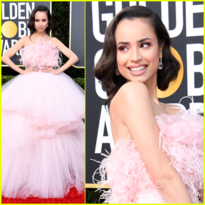 Sofia Carson Stuns in Pink Gown For Golden Globes 2020
