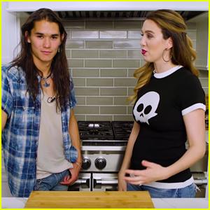 Booboo Stewart Reenacts 'Twilight' & 'Descendants' Scenes With Christy Carlson Romano! (Video)