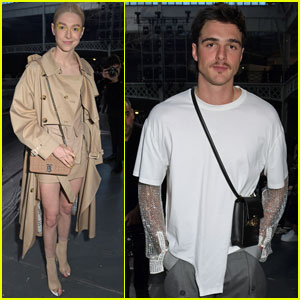 Jacob Elordi & Hunter Schafer Show Their Style at Burberry's London Fashion Show