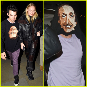 Joe Jonas Tries To 'Hide' From Paparazzi With Double Sided Face Sweater in London