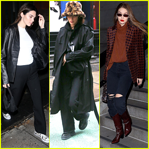 Kendall Jenner Goes Out To Dinner After Walking In NYFW