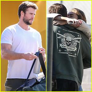 Liam Hemsworth's Girlfriend Gabriella Brooks Joins Him at the Gym