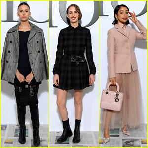 Nina Dobrev, Maya Hawke & Liza Koshy Attend Dior Paris Fashion Show