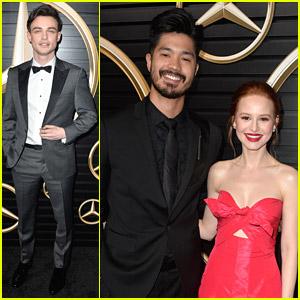 Ross Butler & Madelaine Petsch Reunite at Oscars 2020 Viewing Party!