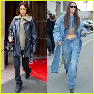 Bella Hadid Wears Two Cool Looks While Out in Paris