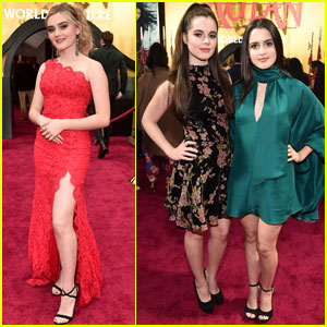 Meg Donnelly Joins Laura & Vanessa Marano at 'Mulan' Premiere!