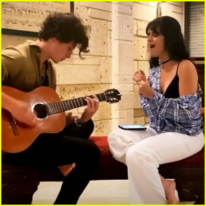 Shawn Mendes & Camila Cabello Perform Her Song 'My Oh My' During iHeartRadio Living Room Concert - Watch!