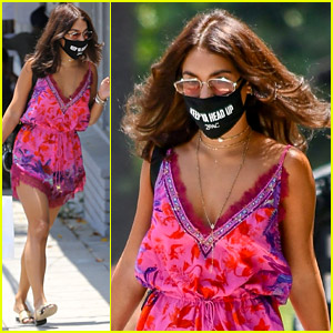 Vanessa Hudgens Is Dressed Perfectly for Summer in Her Cute Romper!