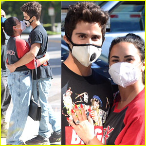 Demi Lovato & New Fiance Max Ehrich Look So Cute Together in Beverly Hills!