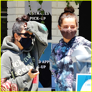 Addison Rae Picks Up Morning Coffee With Kourtney Kardashian