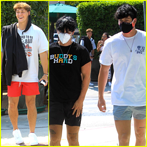 Bryce Hall, Blake Gray & Noah Beck Eat Out in WeHo After Power Gets Shut Off