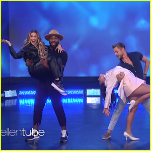 Addison Rae Makes 'Ellen Show' Debut, Dances With Derek Hough On Stage