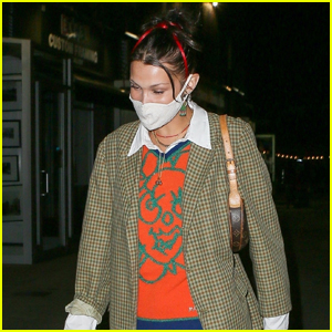 Bella Hadid Heads Home After Dinner with Friends