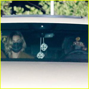 Hailey & Justin Bieber Head Home After Dinner at Nobu