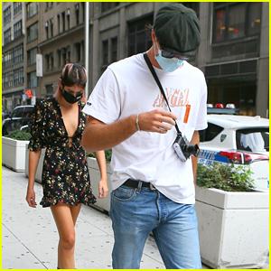 Kaia Gerber & Rumored Boyfriend Jacob Elordi Arrive at Business Meeting Together