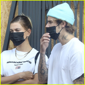 The Biebers Stay Safe While Out on Their Anniversary!