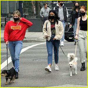 Lili Reinhart Goes On Birthday Dog Walk With 'Riverdale' Besties