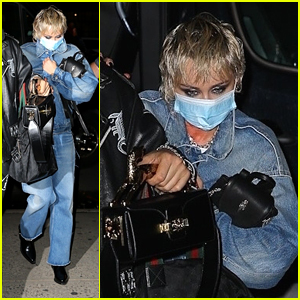 Miley Cyrus Heads Back To Her Hotel After Filming New Music Video