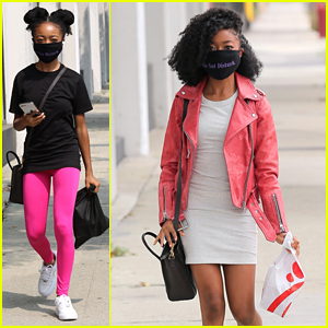 Skai Jackson Gets 'Caught Red Handed' Heading to The 'DWTS' Studio