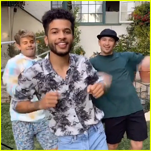 Jordan Fisher, Garrett Clayton & Kent Boyd Have Mini 'Teen Beach Movie' Reunion