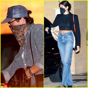 Kaia Gerber & Jacob Elordi Grab Dinner Together With Friends