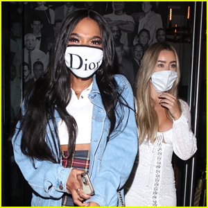 Teala Dunn Grabs Dinner With Friends After Kissing Bella Thorne On TikTok
