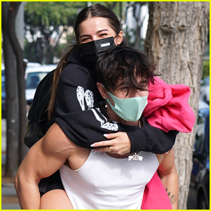 Addison Rae Gets Piggyback Ride From Bryce Hall After His Leg Day Workout