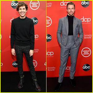 David Dobrik & Derek Hough Step Out For American Music Awards 2020