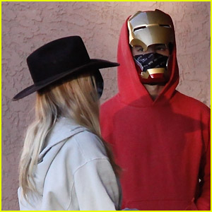 Joe Jonas Wears Iron Man Mask While Out With Sophie Turner On Halloween