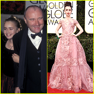Lily Collins' First Golden Globes Was Over 20 Years Ago - See the Pic!