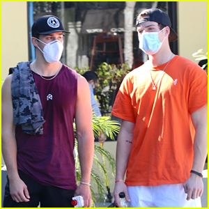 Noah Beck Hits The Gym With Blake Gray After Trying to Make a Diss Track