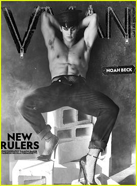 Noah Beck Wears Fishnets & Heels For 'VMAN' Magazine's New Rulers Digital Issue