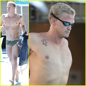 Cody Simpson Shows Off His Hot Body While Preparing For Australian Swimming Championships